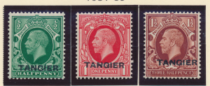 Great Britain, Offices In Morocco/Tangier Stamps Scott #505 To 507, Mint Hing...