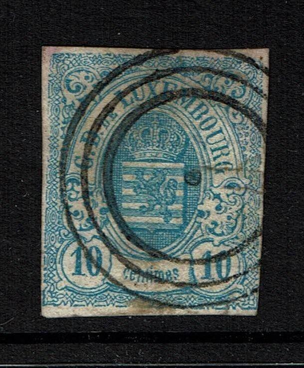 Luxembourg SC# 7, Used, tiny shallow thin - Lot 040917