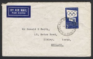 1954/55 Olympic publicity 2/- blue & 2/- green on separate airmail covers NSNS68