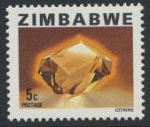 Zimbabwe  SG 579  SC# 417 MNH  Citrine  see detail and scan