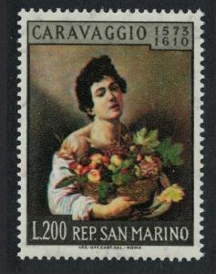 San Marino 350th Death Anniversary of Caravaggio painter SG#625