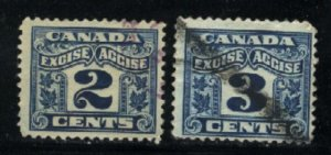 Canada 2,3 cent excise    u   PD