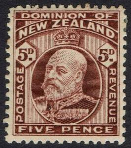 NEW ZEALAND 1909 KEVII 5D PERF 14 X 13.5