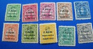 PHILIPPINES 1933  -  SCOTT # C36-C45  -  MH                (Hp7)