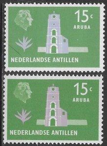 Netherlands Antilles (Curacao) 247 & 247a MNH - Fort Willem III - Aruba