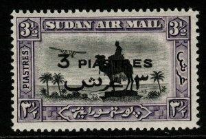 SUDAN SG75 1938 3p on 3½p BLACK & VIOLET MNH