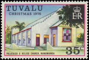 Tuvalu #38-42, Complete Set(5), 1976, Religion, Never Hinged