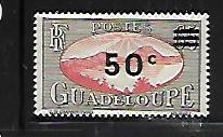 GUADELOUPE, 161, MINT HINGED, SAINTS ROADSTEAD, SURCHARGED