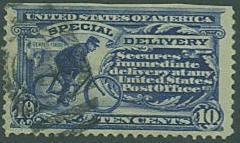 USA SC# E5 Messanger on Bicycle 10c , canceled