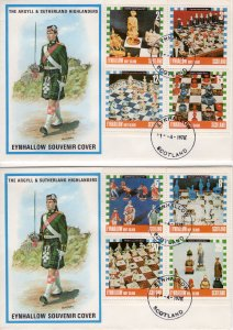 Eynhallow 1978 Chess Pieces Set of 8 values perforated FDC (2)
