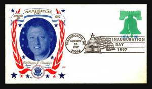 Clinton 1997 Inauguration Cover / LRC Cachet - Z14538
