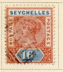 Seychelles 1890 Early Issue Fine Used 16c. 326858