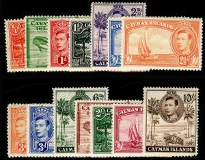 CAYMAN ISLANDS SG115-126a, 1938-48 COMPLETE SET, M MINT. Cat £100.