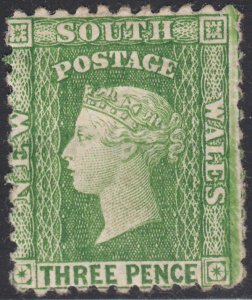 New South Wales 1882-91 MH Sc 63h 3p Victoria Perf 12 x 11