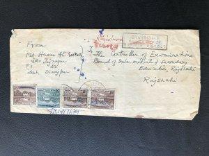 Bangladesh 1972 Cover post master provisional Manuscript ovpt On Pakistan