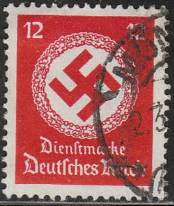 Stamp Germany Official Mi 138A Sc O98a 1934 WW2 Dienst Fascism Occupation Used