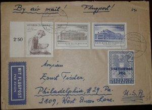 O) 1955 AUSTRIA, PROMOTION AUSTRIAN PHILATELIC -COLLECTOR, BURGTHEATER VIENNA, O