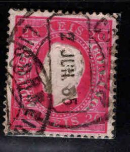 PORTUGAL Scott 40a perf 13.5 Used King Luiz stamp double ring cancel