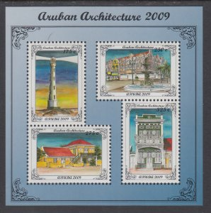 Aruba 348 Architecture Souvenir Sheet MNH VF