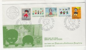 NETHERLANDS ANTILLES,1963 Child Welfare Fund set of 4, First Day cover