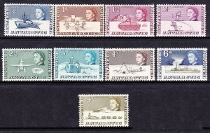 BRITISH ANTARCTIC TERRITORY 1963 QEII 1/2d to 9d SG1 to 9 MH