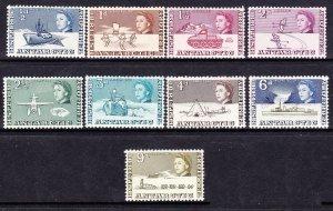 BRITISH ANTARCTIC TERRITORY 1963 QEII 1/2d to 9d SG1 to 9 MH