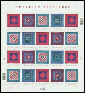 PCBstamps  US #3524/3527 Pane $$6.80(5x4x34c)Amish Quilts, MNH, (4)