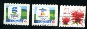 Canada #2128,2307A, 2307B   used   PD