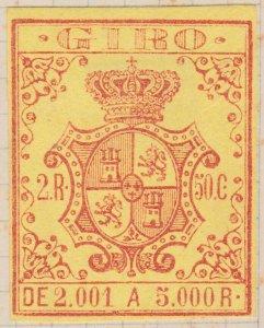 ESPAGNE / SPAIN / ESPAÑA 1861 Sello Fiscal (GIRO) 2,50 reales - Mint No Gum