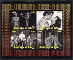 Chad 2015 Elvis Presley #3 imperf sheetlet containing 4 v...