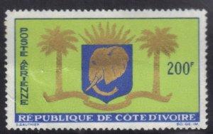 IVORY COAST SCOTT# C28  MNH  200fr 1964     SEE SCAN