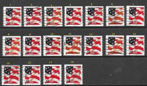 US 3622 Used - PNC - Plate 2222 - Flag - Please Read Description