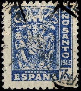 ESPAGNE / SPAIN / ESPAÑA 1944 75c Año Santo 1943 Mi.912 / Yv.725 °