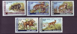 J21944 Jlstamps 1969 dahomey set mh #252-6 animals