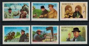 Dominica #405-10a* NH  CV 3.00 complete set & Souvenir Sheet Churchill