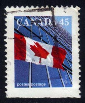 Canada #1361c Flag and Building; Used (0.25)