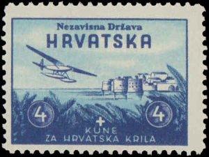 1942 Croatia #B7-B10, Complete Set(4), Hinged