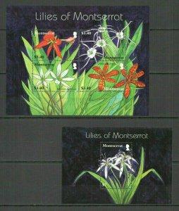 AB2597 MONTSERRAT FLORA NATURE FLOWERS LILES OF MONTSERRAT BL+KB FIX
