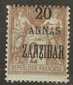 France Off Zanzibar 27 Mi 38 MNH Avg 1900 SCV $35.00
