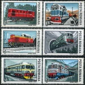 Romania MNH 3468-73 Locomotives 1987
