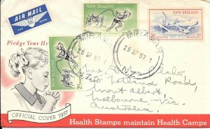 NZFD742 New zealand health cover 1967 FDC $4.00