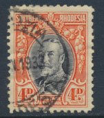 Southern  Rhodesia  SG 19c SC# 21b  Used - perf 11½ see scan and detail