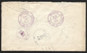 Doyle's_Stamps: 1913 West Virginia, Registry Cover, Scott #F1 & #406