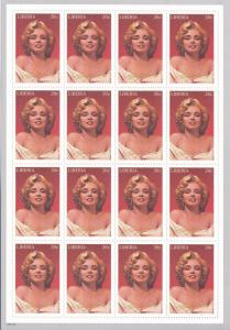 Liberia # 1216, Marilyn Monroe, Full Sheet, NH, 1/2 Cat.