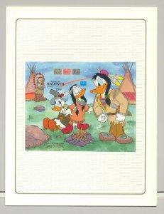 Maldives #1171 Disney Ameripex 1v S/S Imperf Chromalin Proof in Folder