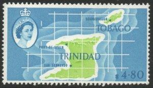 TRINIDAD & TOBAGO-1960-67 $4.80 Apple-Green & Pale Blue Sg 297 LMM V46166