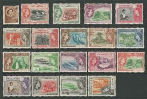 Dominica 1954 Definitive Set Of 19 unmounted mint SG140-SG158