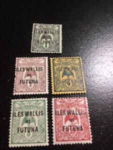 Wallis + Futuna Islands sc 1-4,6 MH