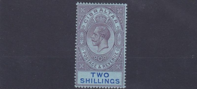 GIBRALTAR  1912 - 24          SG   82    2/-  PURPLE & BLUE    VLMH