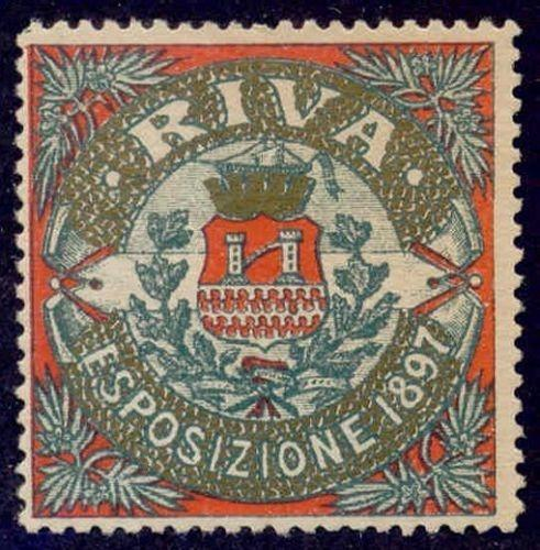 Italy 1897 Riva Industrial-Electrical Expo Poster Stamp